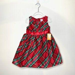 NEW Gymboree Tartan Plaid Party Dress 3T Red Green